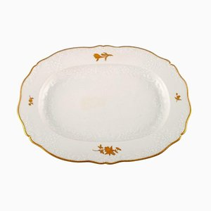 Large Meissen Serving Dish in Porcelain with Flowers and Foliage