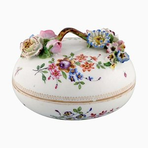 19th Century Meissen Bonbonniere in Hand-Painted Porcelain