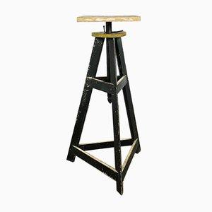 Vintage Wooden Artist Sculpture Pedestal Stand
