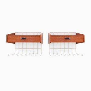 Mid-Century Modern Scandinavian Wall Bed Tables, 1960s, Set of 2