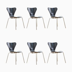 Mid-Century Modern Scandinavian Chairs by Arne Jacobsen for Fritz Hansen, Set of 6