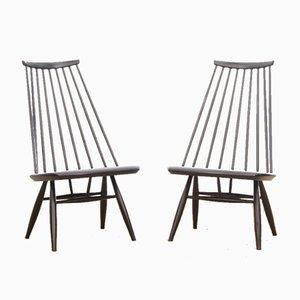 Mid-Century Modern Scandinavian Mademoiselle Lounge Chairs by Tapiovaara for Asko, Set of 2