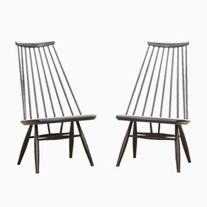 Skandinavische Mid-Century Modern Mademoiselle Sessel von Tapiovaara für Asko, 2er Set