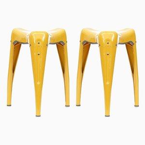 Model Wisdom Tooth Stacking Stools by Yasu Sasamoto, Set of 2