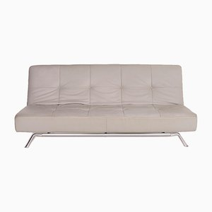Grey Leather Smala 3-Seat Sofa by Pascal Mourgue for Ligne Roset