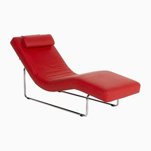 Red Leather 680 Lounge Chair from Rolf Benz