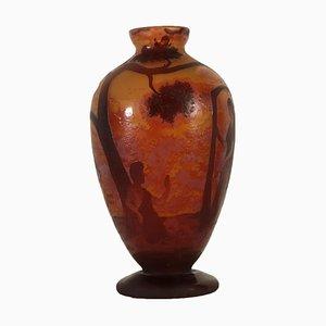 Vaso in stile Daum Nancy