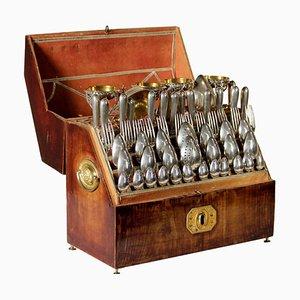 Servizio di posate con scatola, Italia, XIX secolo