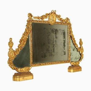 Specchio da camera da letto neoclassico in legno dorato, Italia, fine XVIII secolo