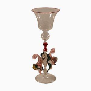 Bicchiere in vetro soffiato di Manifattura di Murano