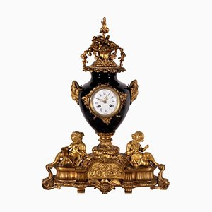 Orologio da tavolo in bronzo dorato, Francia, XIX secolo