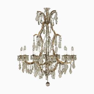 Antique Maria Theresa Chandelier in Crystal Glass and Iron
