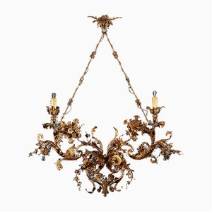 Chandelier in Gilded Iron