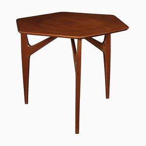 Italian Mahogany Veneer and Solid Wood Table, 1950s
