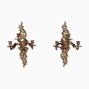 Applique in bronzo, Italia, XIX secolo, set di 2