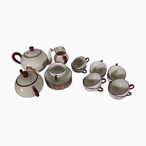 Tea Service by Richard Ginori for San Cristoforo, Milan, 1930s