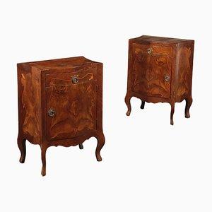 Tavoli in stile barocco in palissandro, set di 2