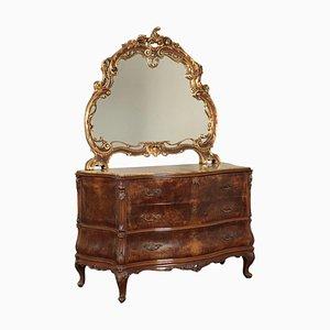 Chippendale Stil Kommode mit Spiegel