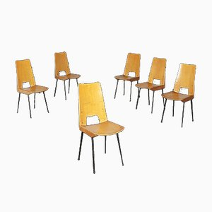 Sedie da pranzo, anni '60, set di 6