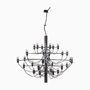 Lampada da soffitto in alluminio e metallo cromato di Gino Sarfatti per Arteluce, anni '60