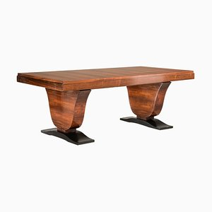 Art Deco Rosewood Extendable Rectangular Table, 1930s