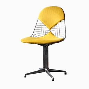 Chrome DKR-2 Wire Chair by Charles & Ray Eames for Vitra