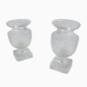 French Medicis Style Crystal Vases, 1900s, Set of 2