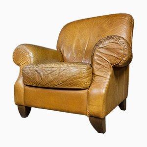 Vintage Light Leather Armchair