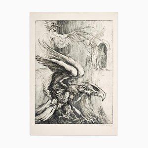 Eagles - Original Radierung auf Papier von Marcel Chirnoaga - 1980er 1980er