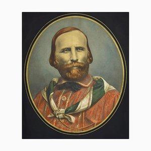 Frühporträt von Giuseppe Garibaldi - Originale Lithographie, 19. Jahrhundert 19. Jh