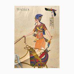 Aquarelle originale par M. Molinari Thaoser - 1924 1924