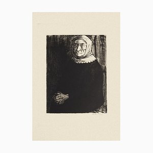 Woman - Original Black and White Etching by Michel Ciry - 1964 1964