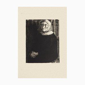 Woman - Original Radierung in Schwarz & Weiß von Michel Ciry - 1964 1964