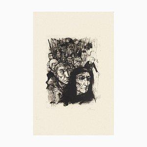 Figuren - Original Radierung in Schwarz & Weiß von Michel Ciry - Mitte 20. Jahrhundert 1964