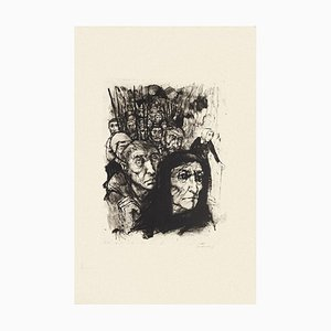 Figures - Original Black and White Etching by Michel Ciry - Mid-20th Century 1964