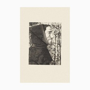 The Priest - Original Black and White Etching by M. Ciry - 1964 1964