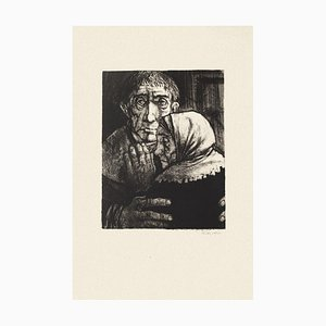 Figures - Original Black and White Etching by M. Ciry - 1964 1964