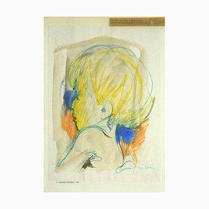 Portrait - Original Pastel Drawing von Leo Guida - 1967 1967