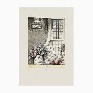 Still Life - Original Radierung auf Papier von Mario Logli - 20th Century 20th century