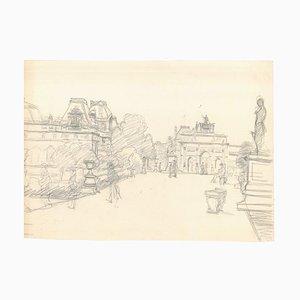 Paris - Original Pencil on Paper - Early 20th Century 1947