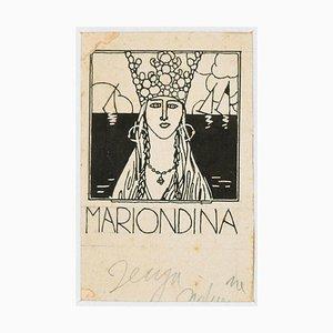 Mariondina - Illustration - Original China Tinte von Bruno Angoletta - 1930er 1930er