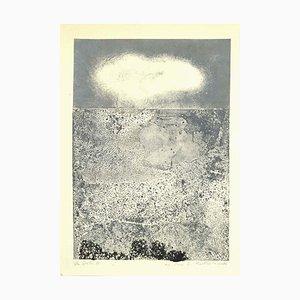 Composition - Original Etching Artwork on Cardboard by Leo Guida - 1971 1971