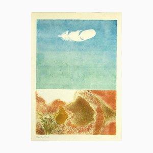 Composition - Original Radierung auf Karton von Leo Guida - 1971 1971