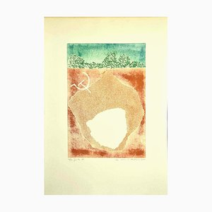 Composition - Original Etching on Cardboard by Leo Guida - 1971 1971
