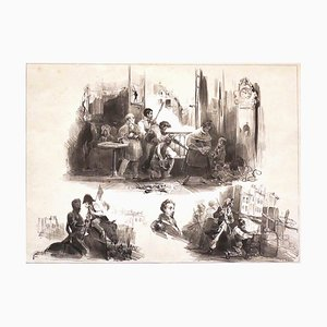 The Last Youngs of July of 1830 - Original Lithograph by C. Roqueplan - 1836 1836