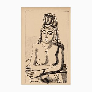 Oriental Nude - Original Lithograph on Paper by Maurice Barraud - 1929 1929