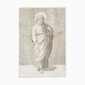 Gravure à l'Eau-Forte Originale St. Matthew - 17ème Siècle, 17ème Siècle