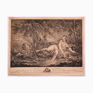Surprised Bather - Original Radierung auf Papier nach F. Boucher - 1760 1760