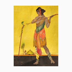 Thamar - Original Watercolor by Unknown Master - 1920s 1920 ca.