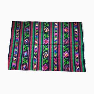 Romanian Colorful Wool Kilim Rug, 1970s